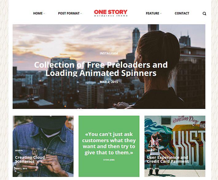 Szablon wordpress One Story