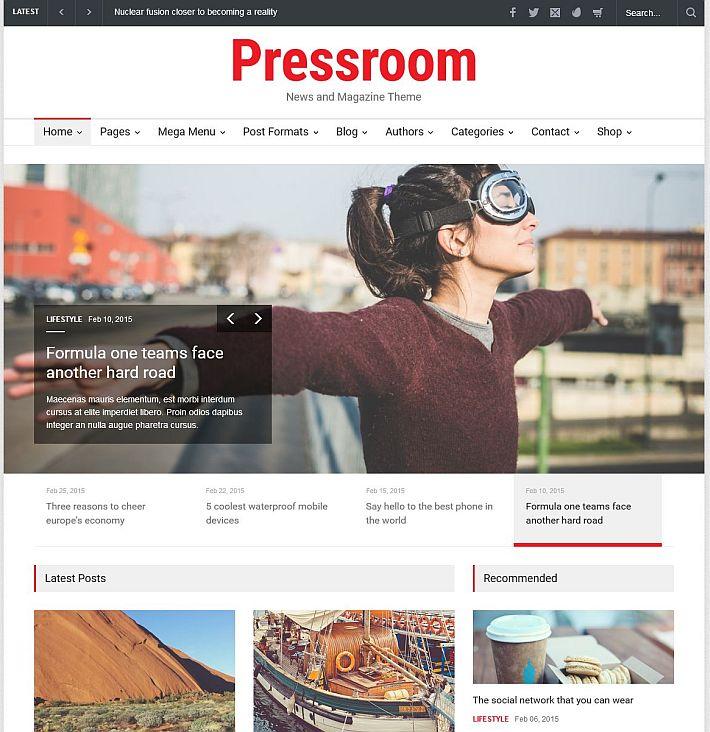 Szablon WordPress Pressroom