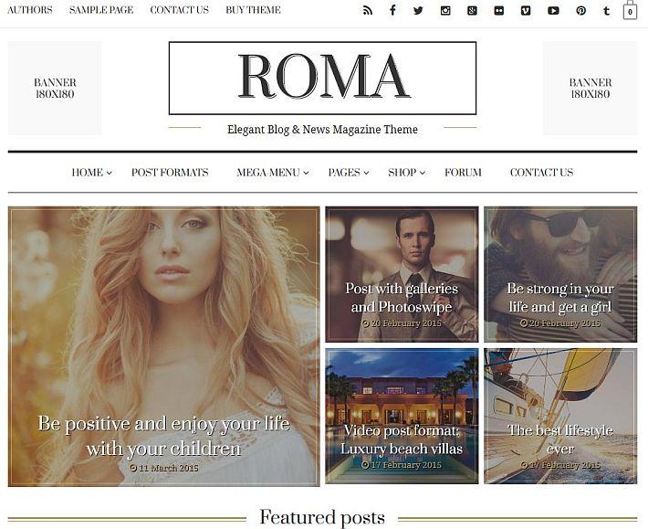 Szablon WordPress Roma