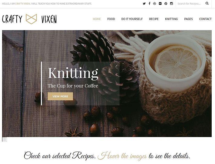 Szablon WordPress Vixen